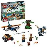 LEGO JurassicWorldper bambini dai 4 anni in poi Velociraptor: salvataggio in biplano, Giocattoli ispirati ai dinosauri per bambini in et prescolare, 75942