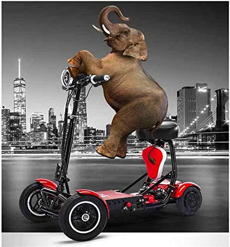 Elektrorollstuhl Rollstuhl, 2020 Compact faltbare Leichte Hochleistungs-Lithium-Batterie-Elektro-Rollstuhl, Erwachsene Person, Dual-Motor, Mini Elektro-Rollstuhl Vierrad Behinderte Elderly Fahrrad Auß