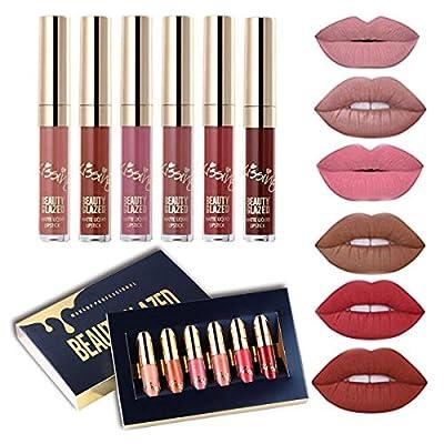6 PCS Matte Liquid Lipstick set Waterproof Long Lasting Birthday Edition Durable Liquid Lipgloss Beauty Cosmetics Makeup Set