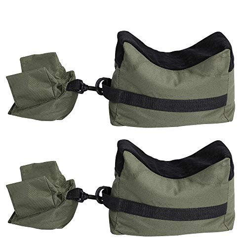 ACKEIVTO 2 Packs Shooting Rest Bags Front Rear SandBag Support Stand Holders for Gun Rifle with Durable Construction and Water Resistance for Outdoor, Range, Shooting and Hunting