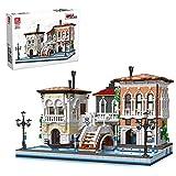 TASS Ideas Venice City Modular 3050Pcs European Street View House Architecture Bricks Modelo Compatible con Lego Creator
