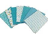 7 Stück Patchwork Stoffe Gemischte Baumwolle Bunte