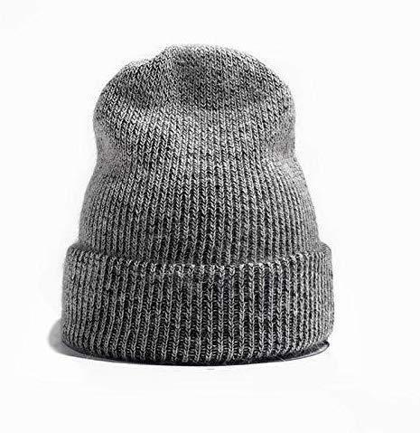 ZTHUAYUAN Otoo e Invierno Sombrero Sombrero de Punto Beanie Sombrero de Invierno Femenina Sombrero Blanco de Invierno Pilas Marea de la Manera Salvaje de Sombrero de Invierno Multifuncional