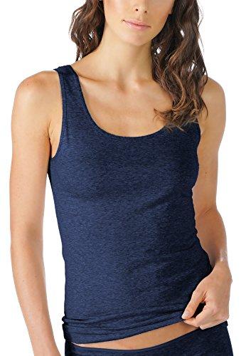 Mey Basics Serie Cotton Pure Damen Tops breiter Träger Blau 40