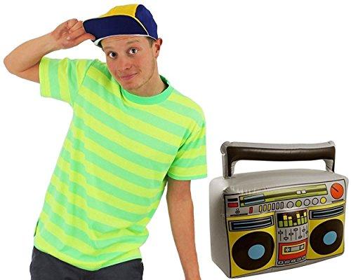 Beverly Hills= LOS Angeles=Prinz=VON Bel AIR=MIT ODER OHNE Radio=BEINHALTET EINE Basball Kappe IN DEN Farben GELB/BLAU UND EINEM KURZÄRMELIGEM T-Shirt IN LEICHT NEONFARBEN GRÜN/GELB=Radio-SMALL