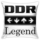 Ahdyr Ultraweiche Mikrofaser-Kissenbezug DDR Legend Kissenbezüge Dekokissen Dekorativ für Sofa Schlafzimmer Kissenbezug 18 x 18 Zoll