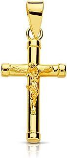 Croix avec le Christ Enfant 17x10.5 mm - Or Jaune 18 Carats