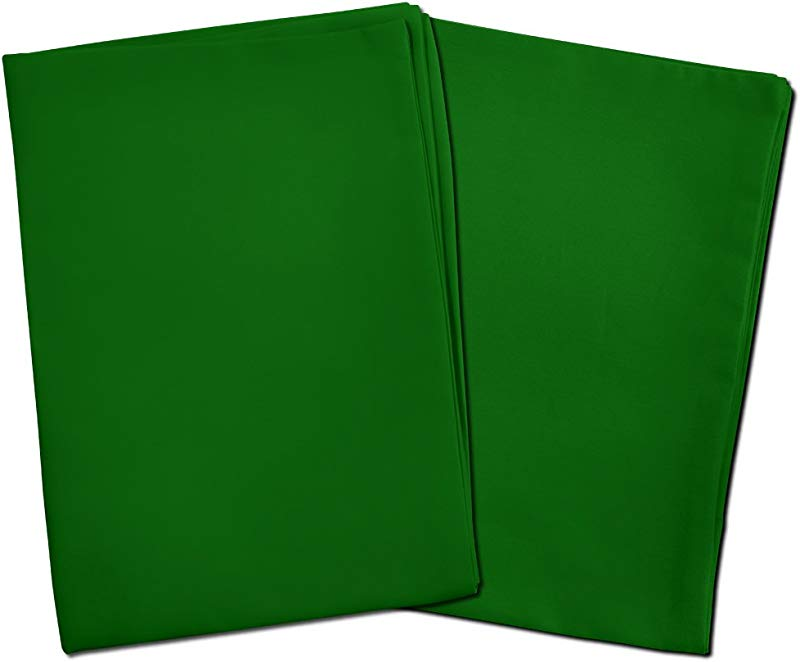 2 Green Toddler Pillowcases Envelope Style For Pillows Sized 13x18 And 14x19 100 Cotton With Percale Weave Machine Washable 2 Pack