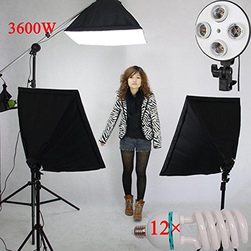3200 W 20-inchx 71,12 cm SOFTBOX STUDIO Pro Video Dauerbeleuchtungsaufgaben Fototapete Galgenstativ