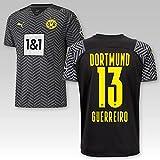 TSH7NDF Dortmund Erwachsene Trikot Away 2021/22, Größe:M, Spielername:13 Guerreiro