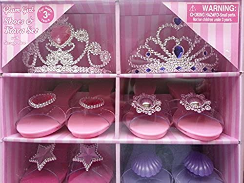Glam Girl schuhe & Tiara Set 4 Pairs of schuhe & 2 Tiaras With Storage Case by What Kids Want