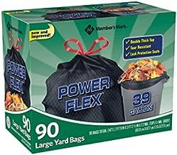 Member's Mark 39 gal. Power-Guard yd Drawstring Trash Bags (90 ct.)