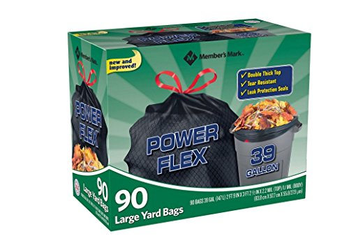 Member's Mark 39 gal. Power-Guard yd Drawstring Trash Bags (90 ct.)