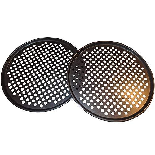 Xigeapg Packung mit 2 Pizzapfannen mit L?Chern 11/12,5 Zoll - Professionelles Set für Pizza-Grill-Grill Vom Typ Restaurant zu Hause