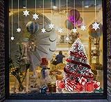 Yuson Girl Weihnachten Aufkleber Fenster Groß Süß Elch Und Weihnachtsbaum Abnehmbare Weihnachten Deko Wandtattoo Weihnachten Statisch Haftende PVC Aufkleber Fensteraufkleber Wandaufkleber Weihnachten - 6