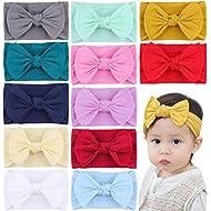 Baby Nylon Headbands Newborn Bows Soft Head Wraps for Infant Toddler Girls