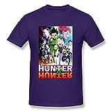 Gryeur Hunterxhunter GON.Freecss Men's Fashion Short Sleeve Tshirts O-Neck Large
