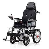 DLY Ancianos Discapacitados Scooter Eléctrico Plegable en Silla de Ruedas Ligera con Controlador Y Frenos Acompañantes para Discapacitados Y Movilidad para Ancianos, B