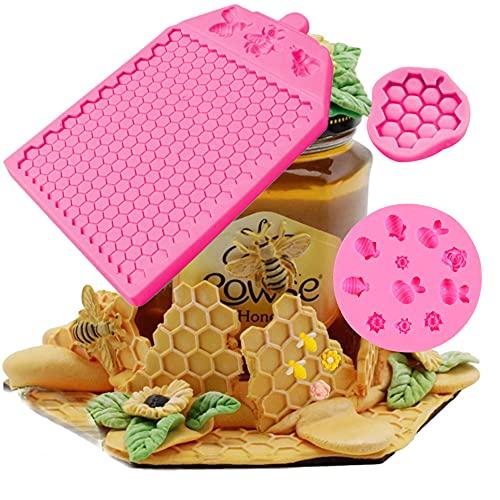 Moldes de silicona con textura de panal de abeja para hacer fondant Cup Cake Jelly Clay Soap Sugar Craft