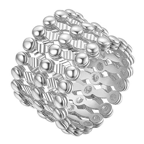 Lfhing 2-in-1 transformierbares Ringarmband Teleskopring Valentinstag Geburtstagsgeschenk für Frauen