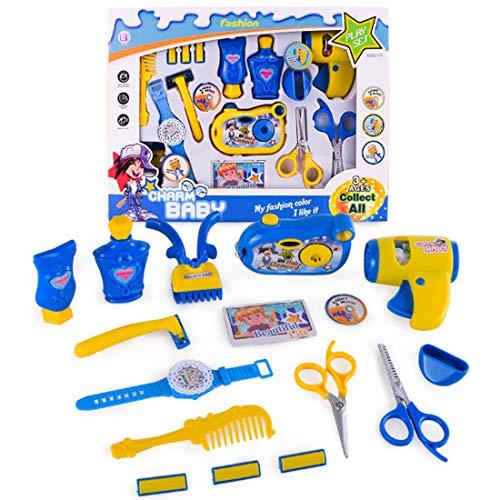 Forweilai 16 stück Barber Werkzeuge Spielzeug Haartrockner mit Sound und Licht für Kinder
