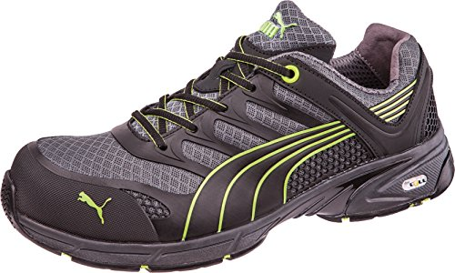 Puma Fuse Motion Green - Calzado de protección (talla 39) color negro