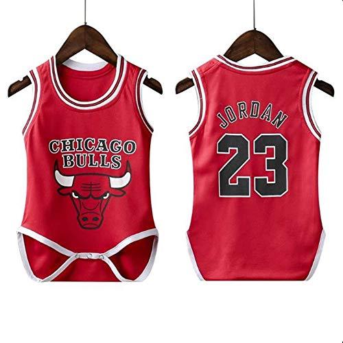 T-MIX NBA Basketball Sportbekleidung Kriechende Basketball-Baby-siamesische Kleidung - Sportkleidung der neugeborenen Kinder (Colour1, 9 Meter (Höhe 65-75 cm))