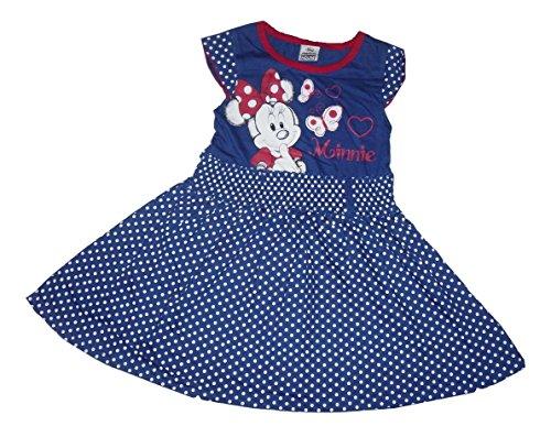 Disney para Hacer Vestidos de niña Disfraz de Minnie Mouse Producto Oficial de ratón Azul