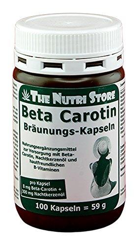Beta-Carotin Kapseln 8 mg Bräunungskapseln 100 Stk. - Zur Versorgung mit hautfreundlichen Vitaminen und mit dem Effekt der milden Hautbräunung