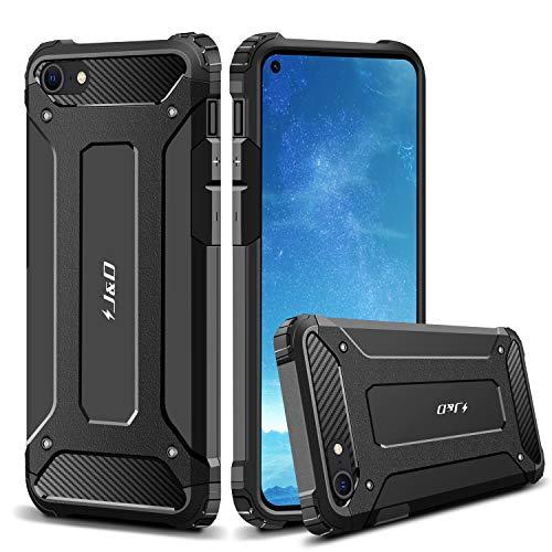 J&D Compatible para Apple iPhone SE 2020/iPhone 7/iPhone 8 Funda, Protección Pesada [Armadura...