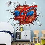 T-YXM Wandaufkleber DIY Spiderman Wandtattoo für Kinder Hostel Schlafzimmer Hintergrund