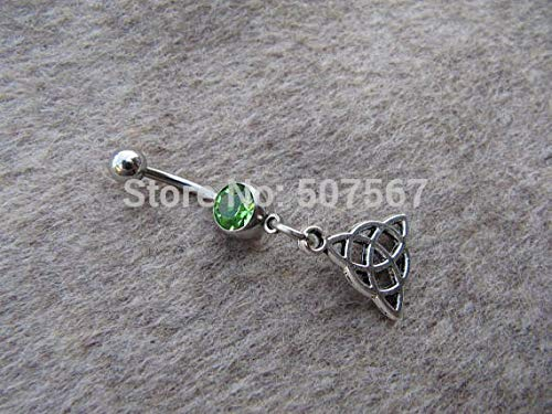 Celtic Knot Belly Button Jewelry, Belly Ring, Handmade Bellybutton Ring Navel Body