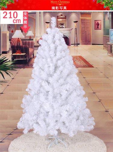 x'mas クリスマスツリー 高さ210cm メリークリスマス Christmas tree 210センチ ヌードツリー ホワイト White クリスマスグッズ パーティー 家族 LED1本付き 数量限定 魔都