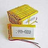 Dilezhiwanjuwu 10 Piezas 503048 3,7 V 750 mAh batería Recargable de polímero de Litio LiPo para MP3 MP4 GPS Bluetooth ebooks Banco de energía cámara para Tablet pc