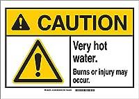 安全標識-注意非常に熱湯による火傷または怪我が発生する可能性があります。インチ金属錫サインUV保護および耐候性、通知警告サイン