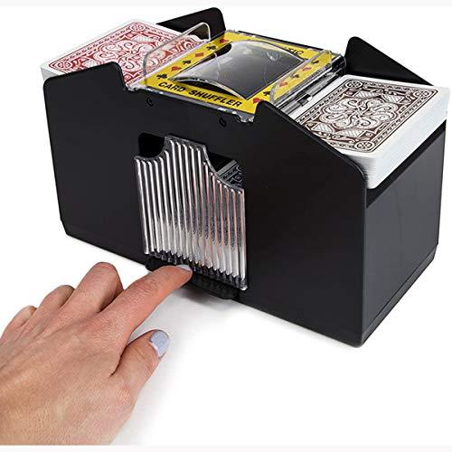 Haokaini Professioneller Automatischer Kartenmischer 4 Kartenspiele Elektrische Kartenmischmaschine Schnell Batteriebetriebener Kartenmischer Tragbarer Casino Poker Kartenmischer