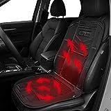 Big Ant - Fundas de asiento para coche, 12 V, calefactables, 12 V, color negro