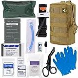 [2021 Upgrade] IFAK Trauma Kit,Emergency IFAK First Aid Kit with CAT Tourniquet,Chest Seals, Israeli Bandage for Emergency Treatment Care Trauma Kit