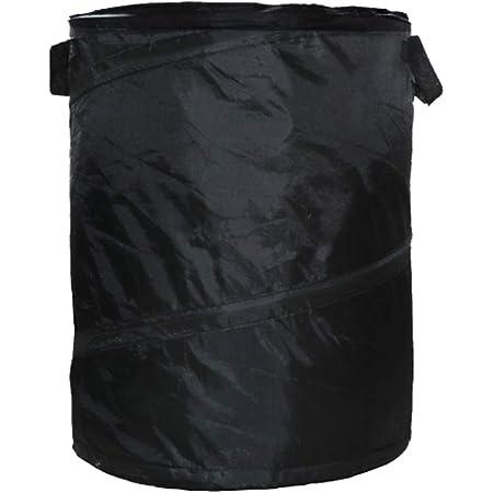 Hanging Car Trash Bag Can Bin Waterproof Folding Litter Garbage Bag Black