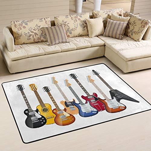 Ahomy Area Teppiche für elektrische Gitarren, Wohnzimmer, Bodenaccessoires, Wohnzimmer, Schlafzimmer, Teppich, 91 x 61 cm, Multi, 91 x 61 cm