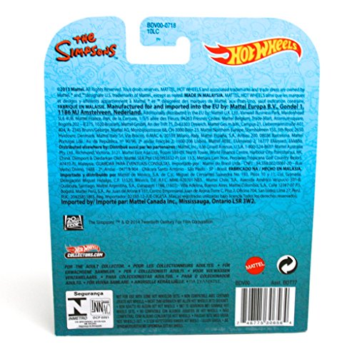 Hot Wheels The Homer / The Simpsons 2013 Retro Entertainment Series Die Cast Vehicle