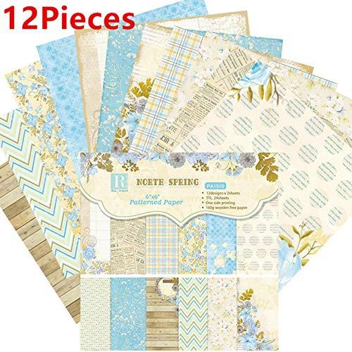 24 stks 6 inch multi stijl scrapbooking packs papier diy album hand account achtergrond pads papier kaart maken plakboek craft, stijl 15