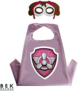 Kids Dress Up Cape and Mask Costume for Superhero Party Favors, Halloween, and More