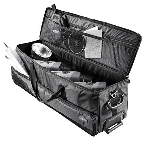 Walimex Studio-Trolley XL (inkl. ausziehbarem Trolleygriff, gepolsterten Schultergurt, variabler Inneneinteilung)