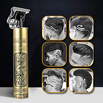 Hair Clippers, 2020 New Professional Mens Hair Clippers Set, Rechargeable Outliner Cordless T-Blade Trimmer 0mm Bald Head Hair Clippers Men Barber Accessories for Men