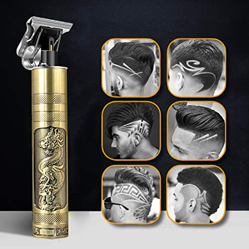 Haarschneidemaschine, 2020 Neu Aktualisiert Herren Haarschneidemaschine Profi, T-Outliner Barttrimmer USB Wiederaufladbar Schnurloser Elektrischer Friseursalon T-Blade Trimmer für Männer