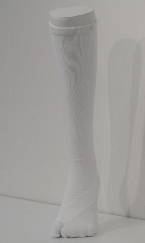 思春期普通にネックレスさとう式 フレクサーソックス ハイソックス 白 (M) 足袋型