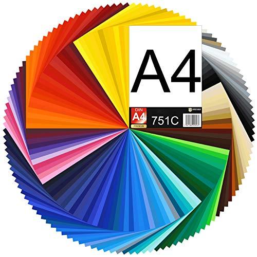 (19,19€/m²) DIN A4 Bogen 29,7x21cm 751C Plotterfolie Folie Vinyl Autofolie Selbstklebend Möbelfolie (070 schwarz, 1 Bogen)