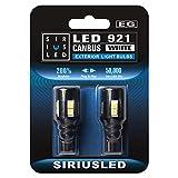SIRIUSLED 921 LED Reverse Backup Trunk Light Bulb for Car Truck Canbus error free Super Bright 3030 SMD Xenon White 6000k Pack of 2