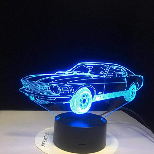 Luz de noche de los niños 3D llevó la luz de la noche creativa Superman coche Ferrari lámpara de mesa se convierte en novedad cumpleaños de los niños regalo de vacaciones 16 colores